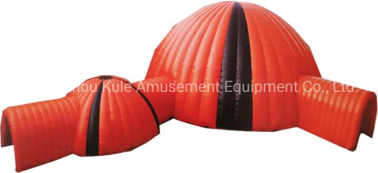 Two Combinations of Large Inflatable Dome Tent