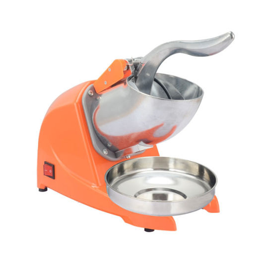 Commercial Stainless Steel Electric Orange Color Snow Ice Machine Ice Crusher