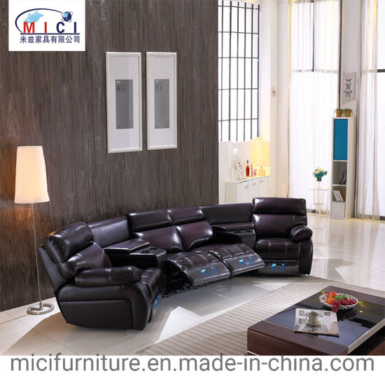 China Living Room Leather Recliner Sofa