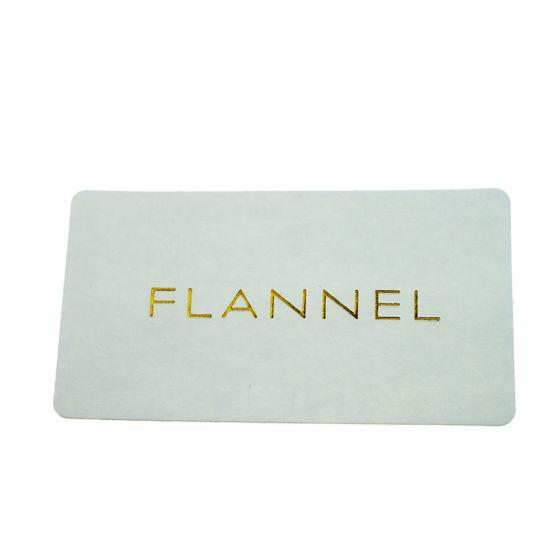 Fashion Hot Stamping Gold Logo Self Adhesive Paper Label Sticker