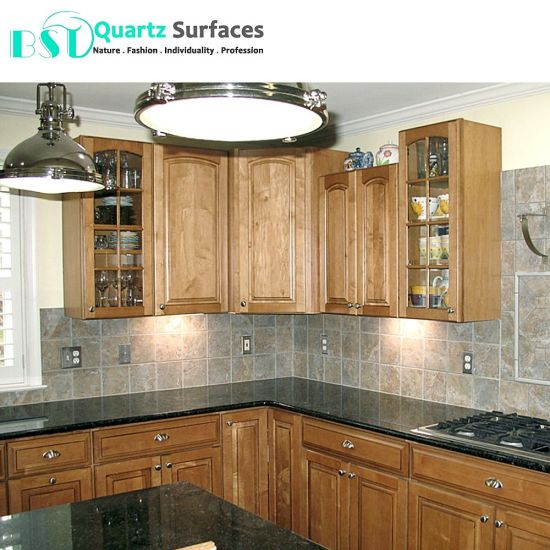 Granite Looking Artificial Quartz Slab for Kitchen Countertops with  Wholesale Prices