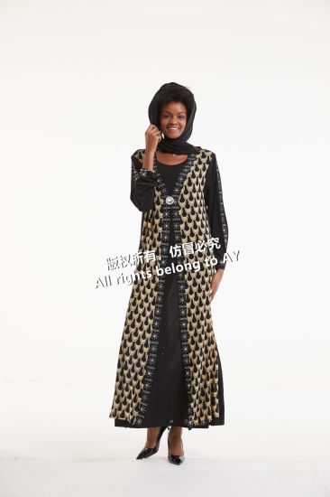 Hot Sale Islamic Clothing Hijab Muslim Abaya Dress Women Simple Black Abaya