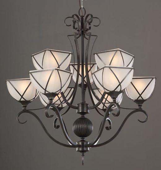 China Glass Modern Iron Chandelier Lighting - China Pendant Lamp ...