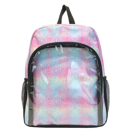 Candy Color Custom Transparent PVC Backpack Fashion Shoulder Bag School Bag
