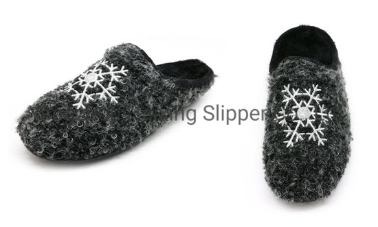 High Quality Indoor Slippers Circle Fleece Warm Slippers for Women