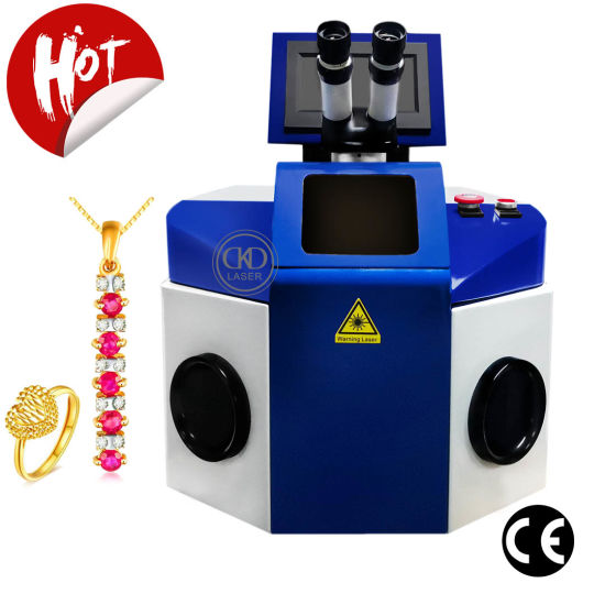 100W Desktop Jewelry YAG Laser Welding Machine for Gold Silver Metal Ring Necklace Bangle Chain Weld