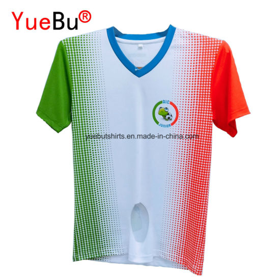 Promotional Customized Sublimation Printing Cotton and Polyester T-Shirts with Your Logo pictures & photos