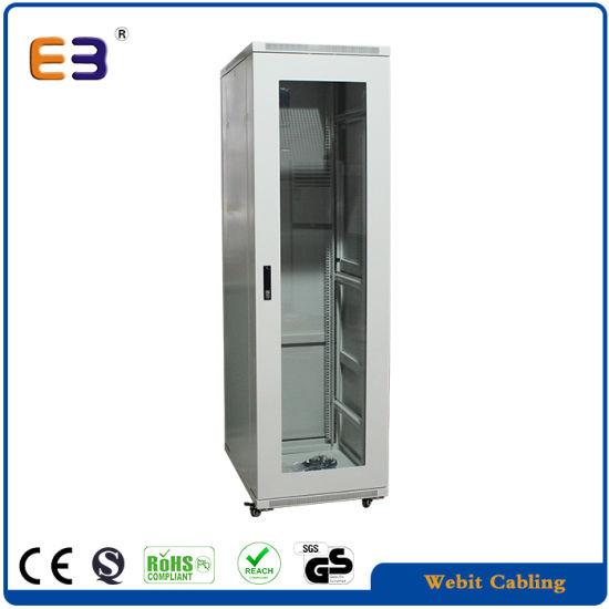 19 Inch Server Rack Cabinet with Windows Type Glass Door Network Cabinet
