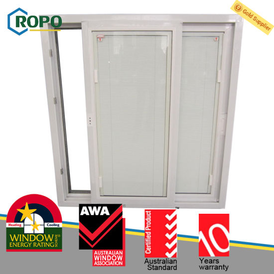 China Australian Upvcpvc Plastic Sliding Window Door Blinds Inside