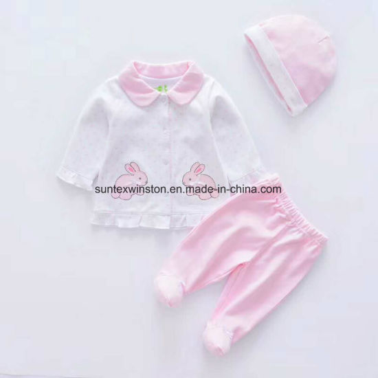 d598e2cbf9 China 100% Cotton Newborn Baby Clothes-3PCS Per Set - China Newborn ...