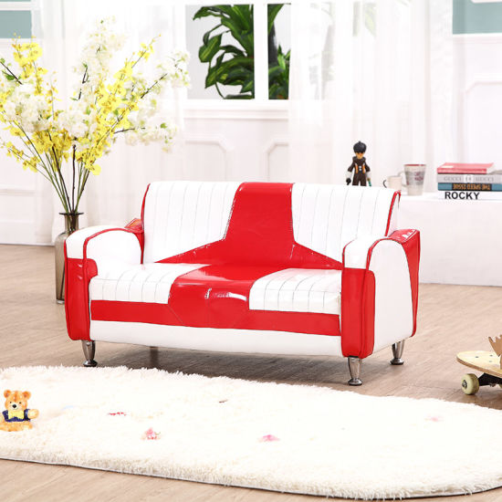 High Quality Modern 2 Seater Superb PVC Leather Sofa/Children Furniture