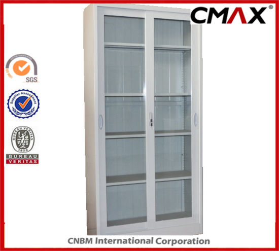 China Steel Cabinet Metal Cupboard 4 Glass Doors Office Filing