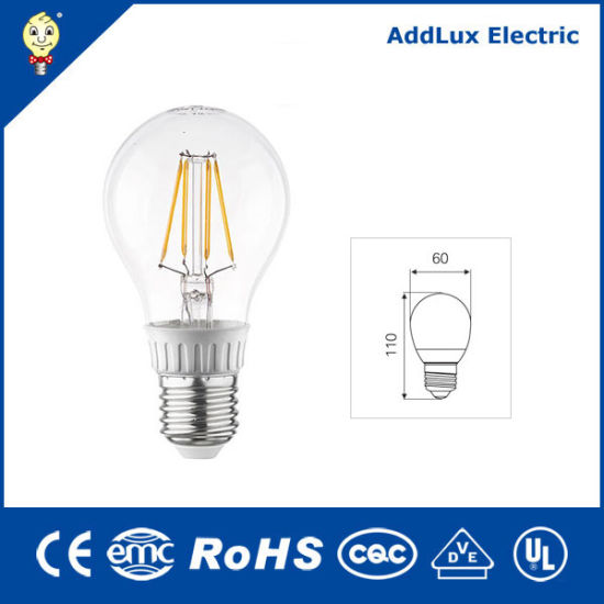 Ce UL Saso Incandescent Style 110V 220V Energy Star 5W Filament E12 LED Light Bulb Made in China for Home & Business Indoor Lighting From Best Wholesale Factory