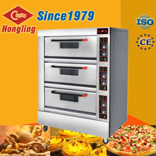 Attractive Bakery Equipment Double Deck Commercial Electric Pizza Oven For Sale