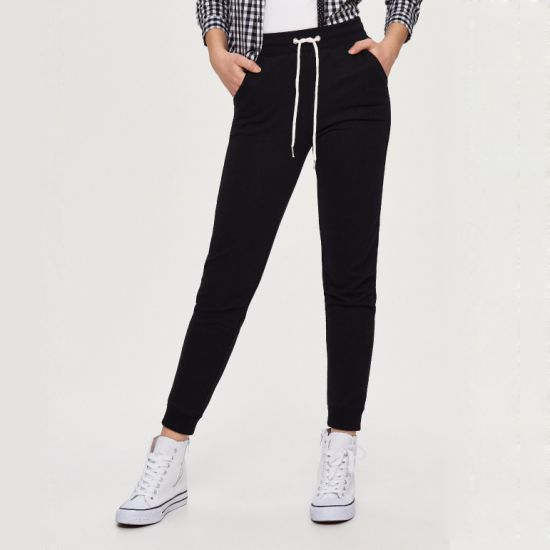 French Terry Women's Sweatpants Fashion Joggers with Custom Logo