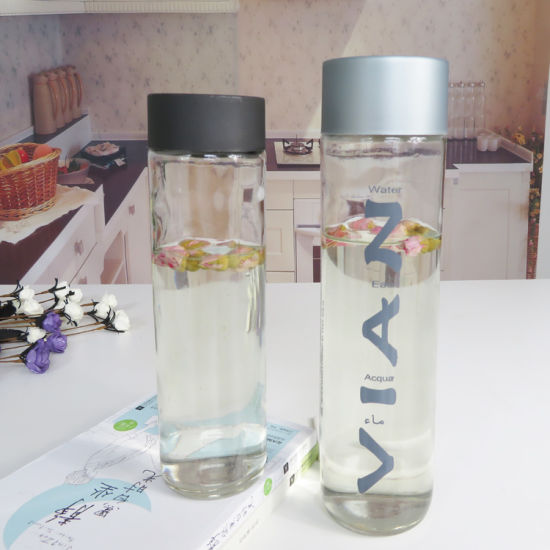 1000ml Empty Round Transparent Glass Bottle with Cap pictures & photos