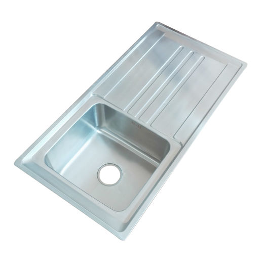 Single Bowl 10050 Stainless Steel Above Counter Wash Kitchen ...