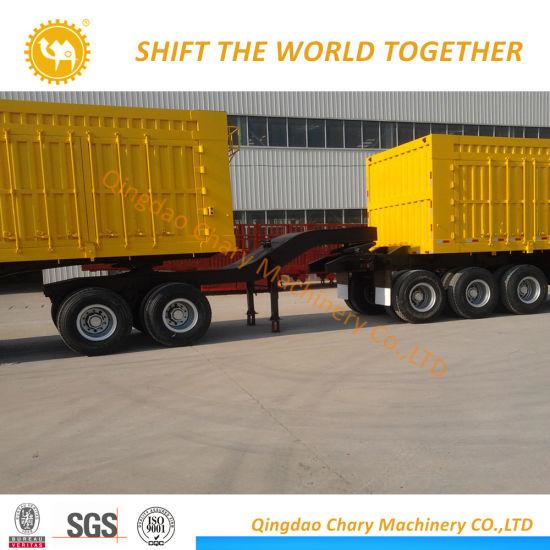 38-60 Cbm Utility Side Tipper Trailer Cargo Side Dump Semi Truck Trailer