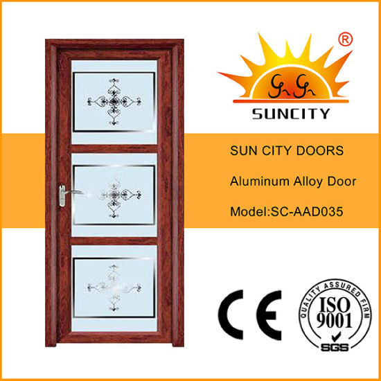 Top Design Single Decorative Glass Storm Doors (SC-AAD035)
