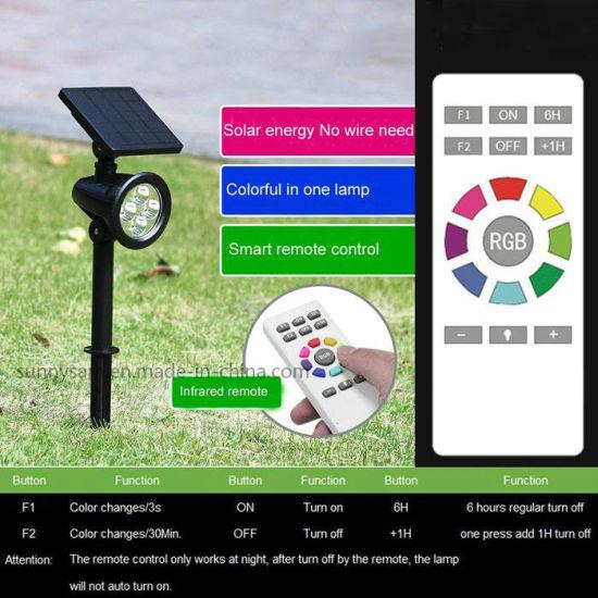 Gradual Color Changing LED Lawn Light Lamp SolarGarden Landscape Lights Outdoor