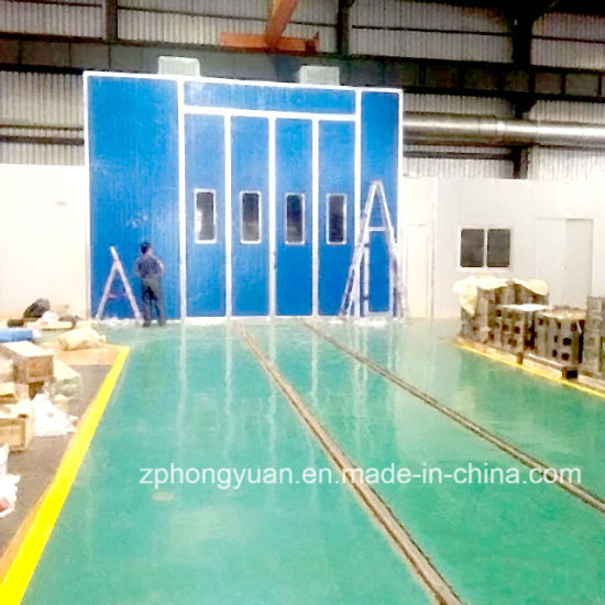 Truck Spray Paint Booth with Intake and Exhaust Fan