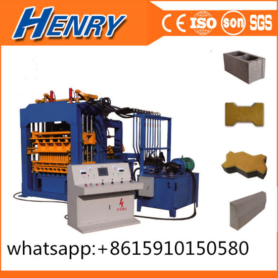 Qt4-15 Automatic Fly Ash Brick Cement Blocks Molding Machine