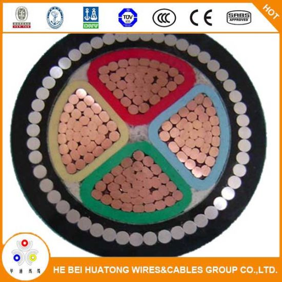 0.6/1kv 4 Cores PVC Insulated Armored Electric Cables with Ce Certificate pictures & photos