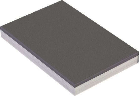 China High Gloss Grey Color Panel MDF, Melamine Sheet MDF for Door