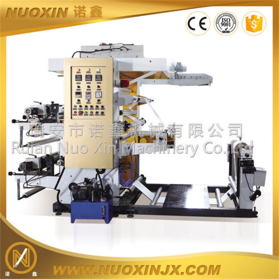 PE Film Blowing Machine with 2 Color Flexographic Printing pictures & photos