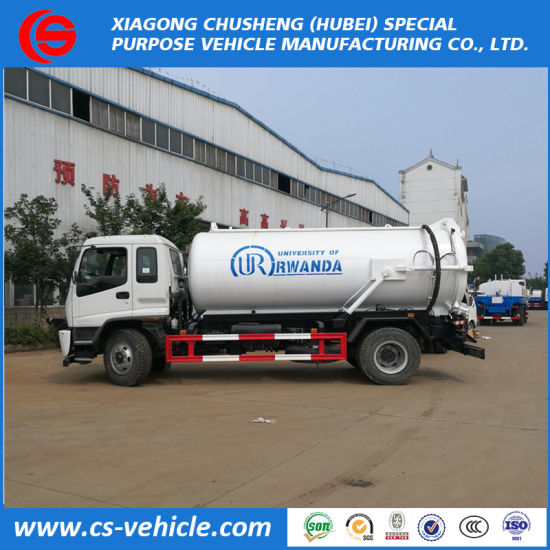 New Design Sewage Suction Trucks 10000liters Vacuum Tank for Sludge Sewage, Dirty Water, Fecal Transportation pictures & photos