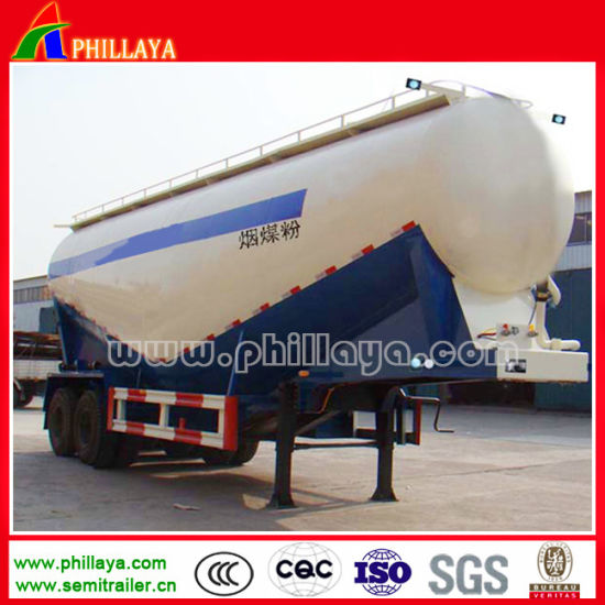 3 Axles Tank Cement Bulker Trailer for Powder Transportation pictures & photos