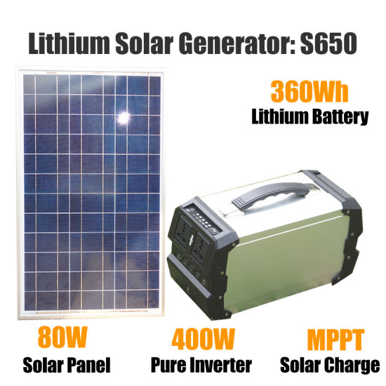 Portable Solar Generator for Home Back up and Emergency Power