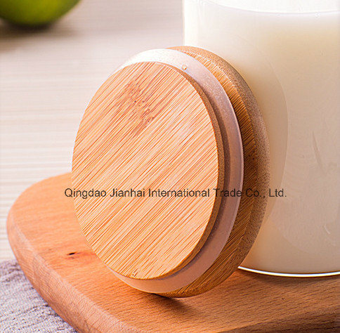 High Borosilicate Glass Food Storage Jar with Bamboo Top pictures & photos