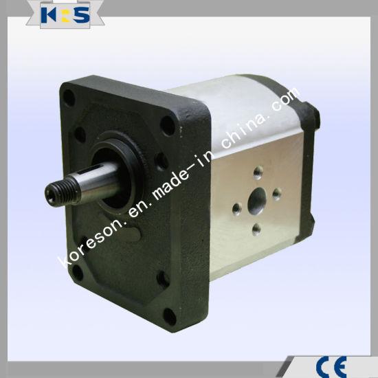 Aluminum Gear Pump Group 2 European Stardard Flange 1: 8 Taper Shaft