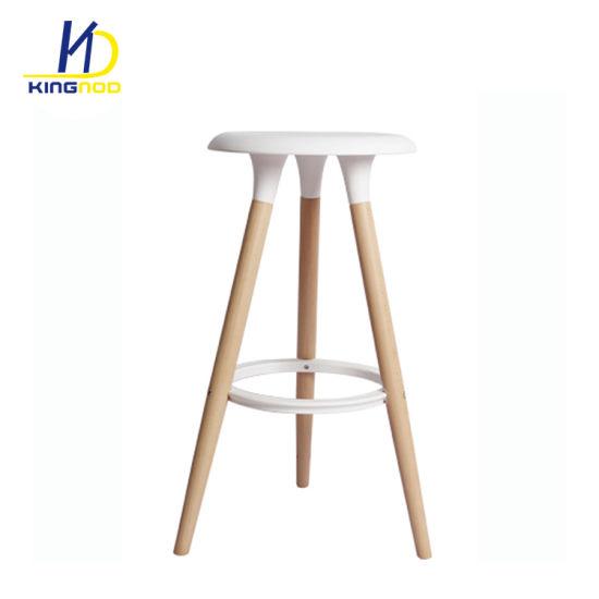 Pleasing 2018 Hot Sale Plastic Top Wood Legs Bar Stool Forskolin Free Trial Chair Design Images Forskolin Free Trialorg
