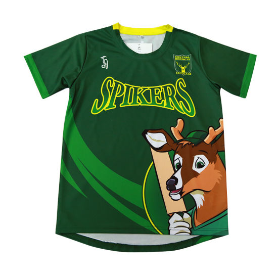 Kids Sublimation Green Shirts Wholesale Custom T Shirt pictures & photos