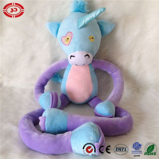 China Unicorn Unique Purple Blue Stretchkins Plush Kids Gift Toys