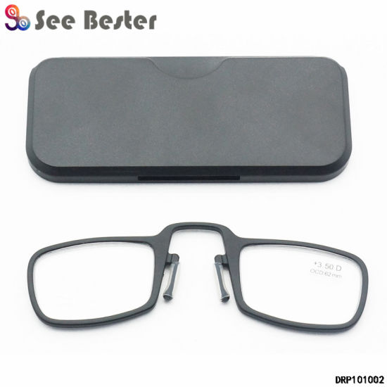7977715ec1a8 Nose Clip on Resting Temples Rimless Pocket Reading Glasses Without Arms.  Get Latest Price