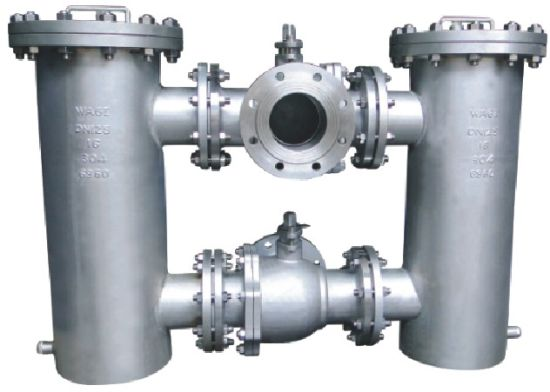 Flanged 3 Way- Ball Valve Conected Duplex Bucket/Basket Strainer (GB41H) pictures & photos