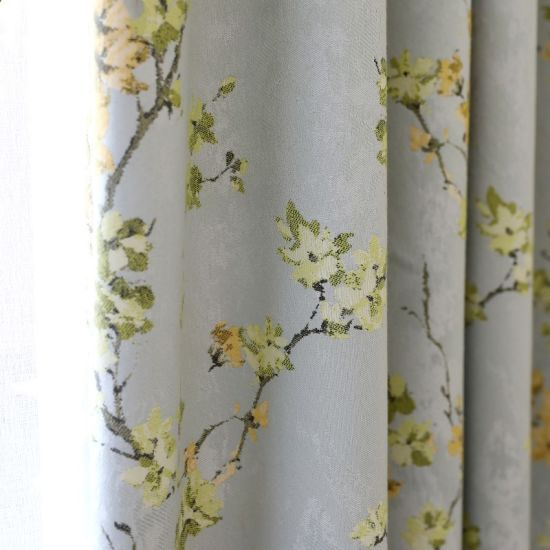 Luxury Heavy Curtains For Living Room Blackout Floral Curtain