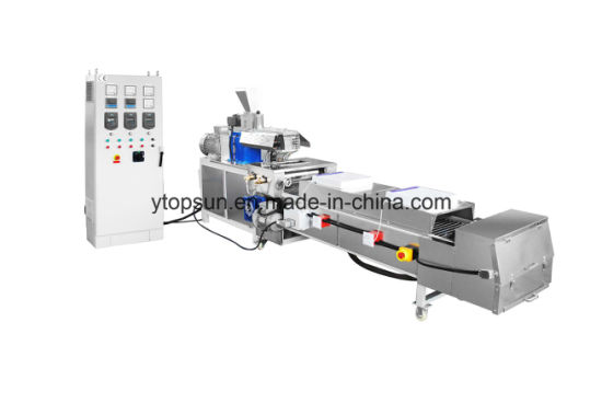 Small Volume Extruder with Cooling Belt for Powder Coating pictures & photos
