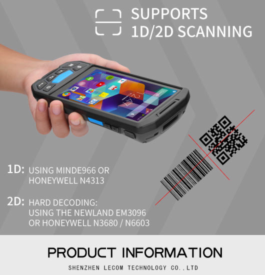 China Rugged PDA Android Barcode Handheld Scanner with RFID