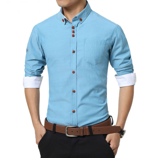 da21be9e1d Fashion Men Casual Shirt Long Sleeve Slim Fit Men High Quality Mens Shirts
