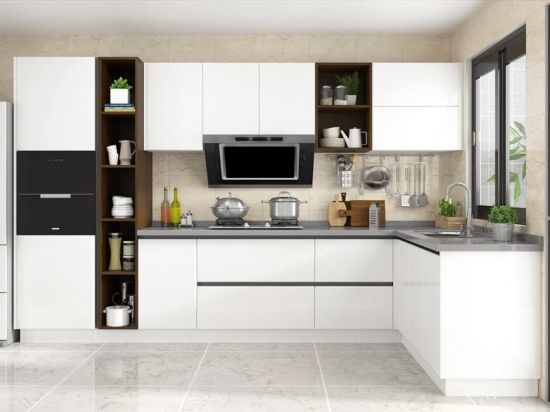 China High Gloss White Pvc Faced Mdf Kitchen Cabinet Door China