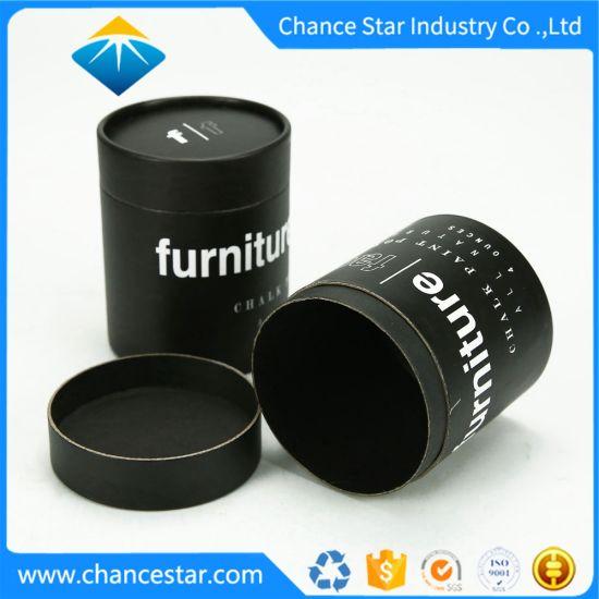Custom Chalk Paint Package Black Paper Kraft Cardboard Tube