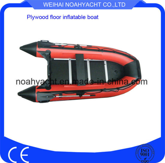 10.8FT Cheap PVC/Hypalon Rowing Inflatable Fishing Boats with Ce Cerificate pictures & photos