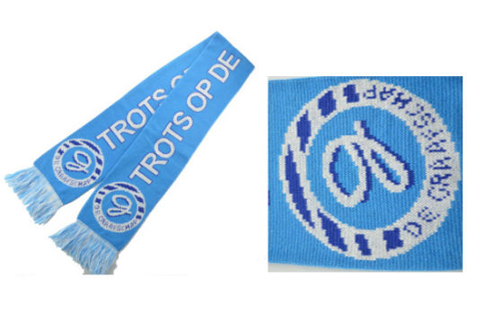 Wholesale Cheap Knitted Winter Warm Acrylic Soccer Football Team Fans Scarf