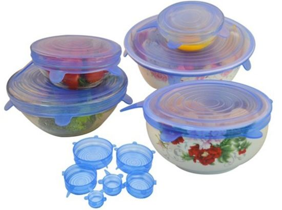8 Packs Super Stretch Silicone Lids to Perserve Food pictures & photos