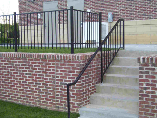 Outside Galvanized Steel Staircase/Outdoor Railing/Iron Balustrade