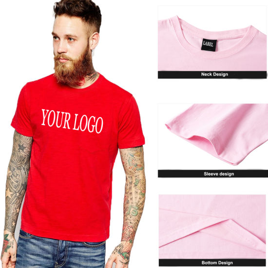 Wholesale High Quality Custom Short Sleeve 100% Cotton Tee Shirt Printing Plain Mens Tshirt with Private Label